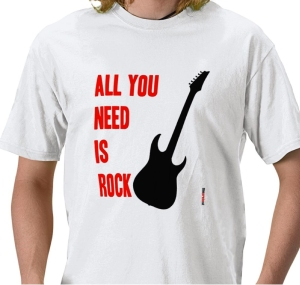 all you need is rock t-shirt