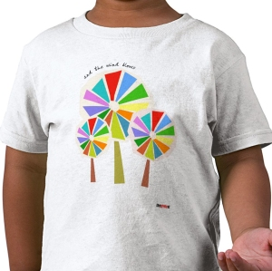 the wind blows t-shirt