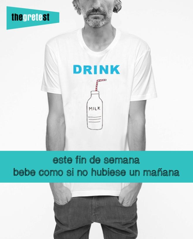 Camiseta chico y chica Drink Milk